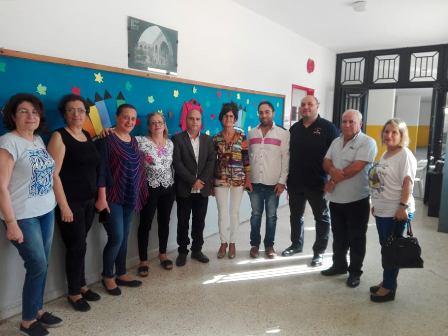المكتب التربوي للتنظيم الشعبي الناصري يقوم بزيارة تضامن  مع مدرسة المية ومية