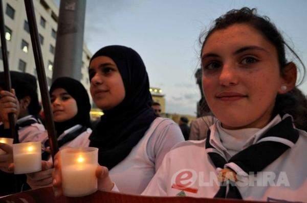 إضاءة شموع في ساحة الشهداء عن أرواح شهداء الجيش اللبناني