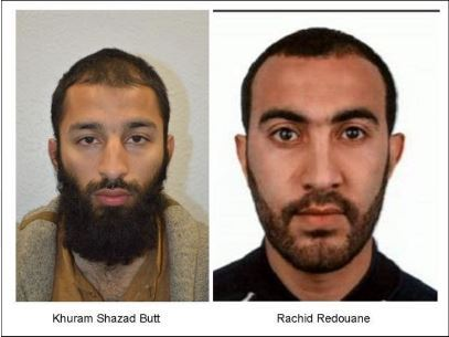 كشف هوية إثنين من منفذي الإعتداءات في لندن.. فما هي جنسياتهم؟