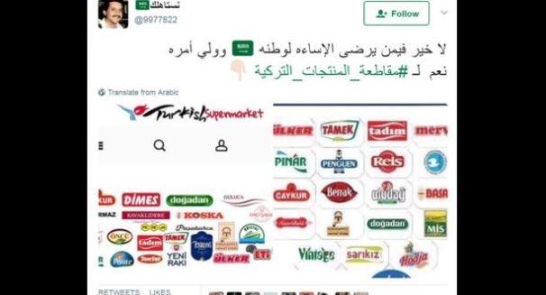 حملة سعودية عبر مواقع التواصل لمقاطعة المنتجات التركية