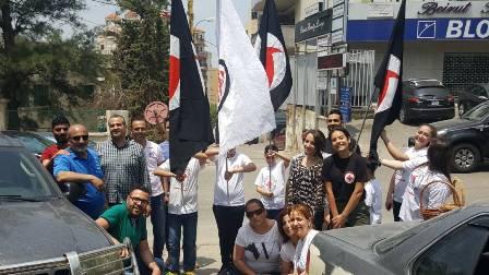 حاجز محبة للقومي بمناسبة عيد المقاومة والتحرير الشويفات