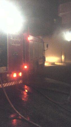 اخماد حريق في منشرة ليلا في حارة صيدا