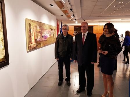 إفتتاح المعرض الثامن للفنانة التشكيلية العراقية سندس الخالدي في الكسليك