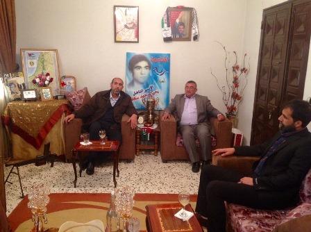 جمعية الأسرى والمحررين زارت منزل الأسير يحيى سكاف في ذكرى إعتقاله