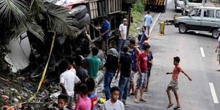 تسعة عشرة قتيلا و21 جريحا في حادث حافلة في الفيليبين