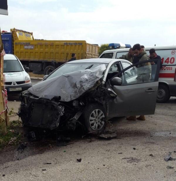 جريح في حادث سير على طريق العديسة كفركلا