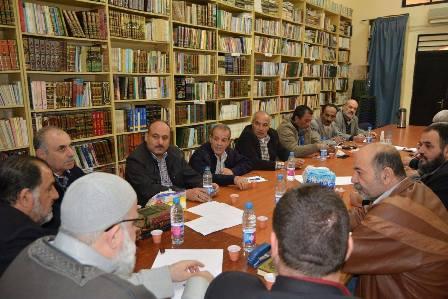 القيادة السياسية للقوى الوطنية والإسلامية الفلسطينية تعقد اجتماعها وتؤكد على رفضها لبناء الجدار