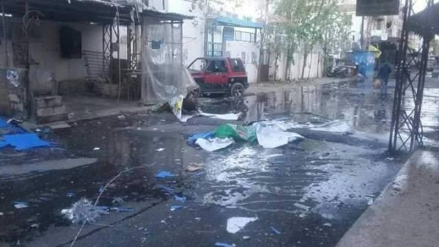 بالصور:الأضرار في مخيم عين الحلوة نتيجة الاشتباكات فيه