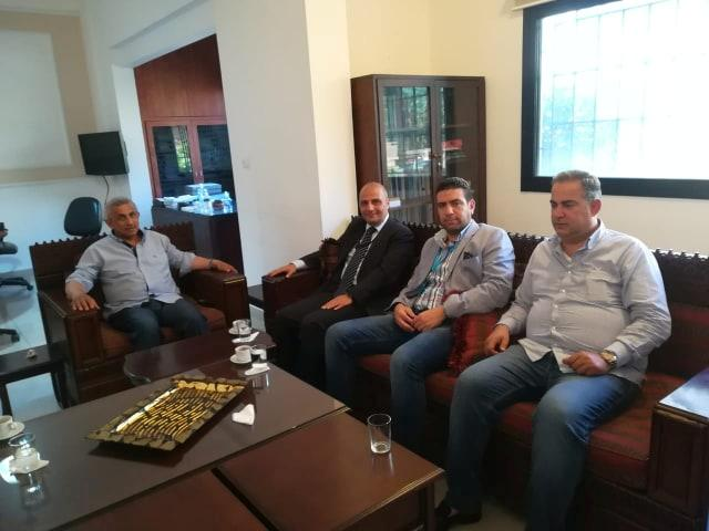 أسامة سعد يلتقي المدير الإقليمي الجديد لجهاز أمن الدولة العقيد فادي قرانوح
