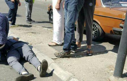 صدم شرطي سير في صيدا قرب اشارة سبينس