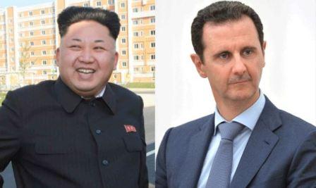 برقية من الأسد إلى كيم جونغ أون