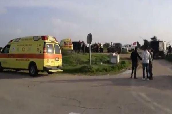 إصابة جنود للإحتلال بإنفجار قرب غزة