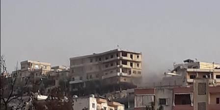 تفجير عبوة من قبل الجيش اللبناني من مخلفات المعركة الأخيرة في مخيم المية ومية