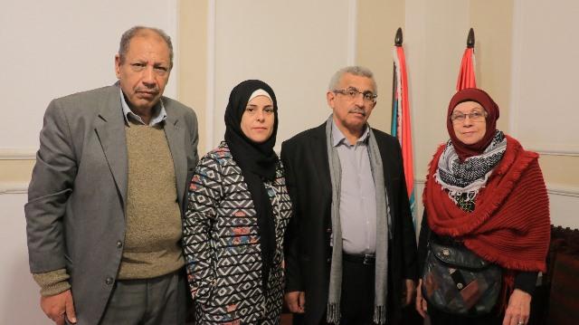 بالصور..أسامة سعد استقبل وفداً من مركز الأدهم للتراث الفلسطيني
