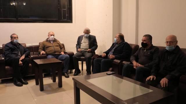 اسامة سعد يستقبل وفدا من تجمع خبراء السير والتحية لروح الشهيد معروف سعد في ذكرى استشهاده