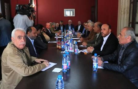 انطلاق اجتماع القيادة السياسية االفلسطينية العليا في مدينة صيدا