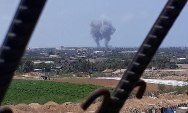 الاحتلال يقصف مواقع جنوبي قطاع غزة