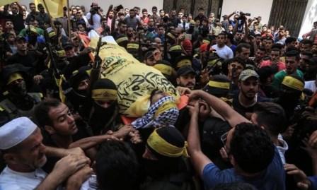 غزة: تشييع حاشد لشهيدي جمعة