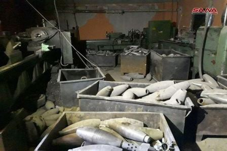 علام عثر الجيش السوري في مدينة دوما؟