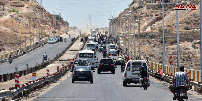 افتتاح أوتوستراد حمص- حماة الدولي أمام حركة النقل للعموم
