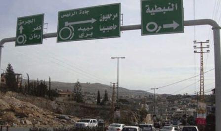 إصابة 5 عناصر من اليونيفيل بحادث سير على طريق النبطية