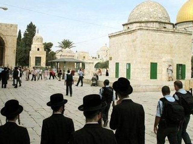 بالفيديو... مستوطنون يقتحمون المسجد الأقصى