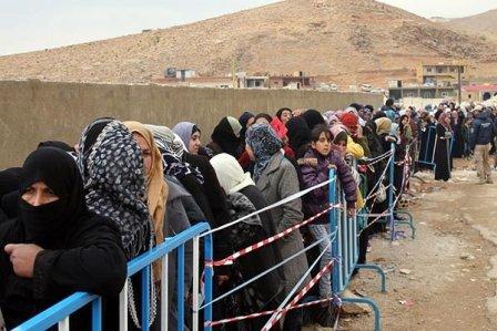 كم بلغ عدد النازحين السوريين العائدين من لبنان الى دمشق؟