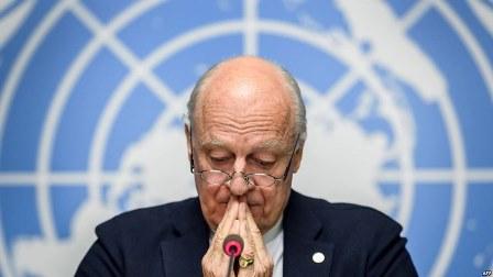 مبعوث الأمم المتحدة إلى سوريا ستيفان دي ميستورا يعلن استقالته!