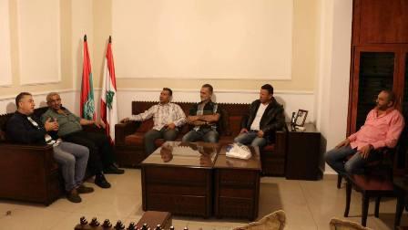 أسامة سعد استقبل وفدا من الأندية الرياضية الفلسطينية