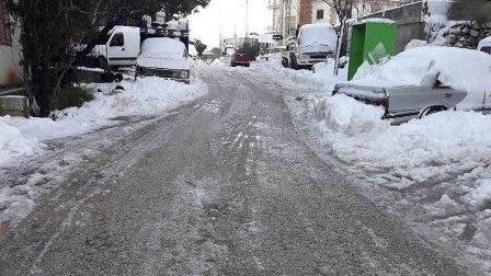 قطع الطرقات في جرد الضنية بسبب الجليد وإغلاق المدارس