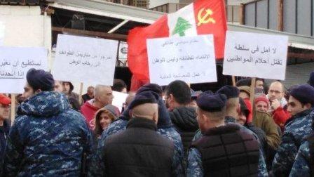 إعتصامات تلف لبنان إحتجاجاً على الواقع السياسي والإقتصادي المتردي