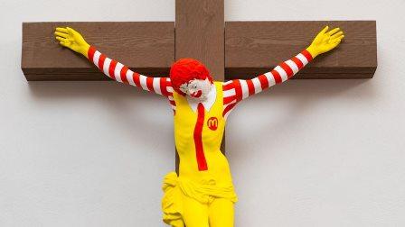 تمثال مسيء للمسيح في فلسطين المحتلة يثير غضباً عارماً!
