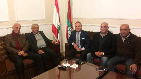 أسامة سعد يستقبل رئيس نادي شباب لبنان المقيم والمغترب في أميركا السيد براهيم عجروش