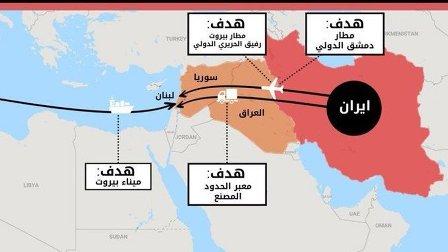 المتحدث باسم جيش الاحتلال يهدد مطاري دمشق وبيروت وينشر خريطة للأهداف!