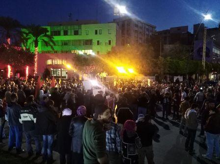 البث المباشر للاعتصام الجماهيري في #ساحة_النجمة تضامناً مع #القدس