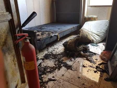 اندلاع حريق في احدى المنازل في صيدا القديمة