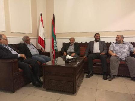 أسامة سعد يستقبل وفدا من المنظمة اللبنانية للعدالة برئاسة الدكتور علي عمار