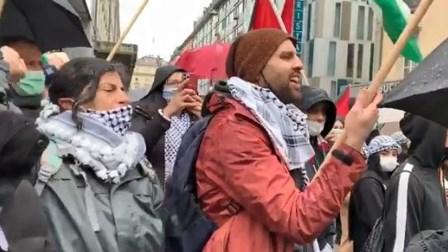 بالفيديو- المقاومة سهى بشارة في تظاهرة داعمة لفلسطين بجنيف