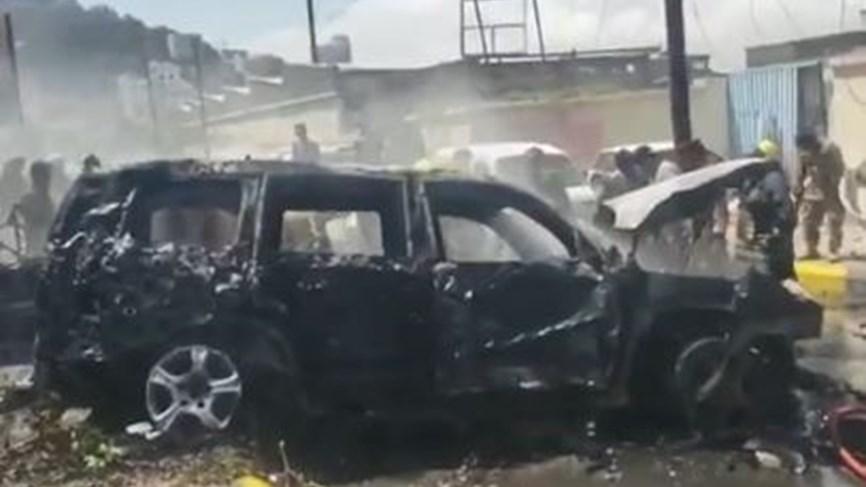 محاولة اغتيال محافظ عدن ووزير الزراعة اليمني بسيارة مفخخة