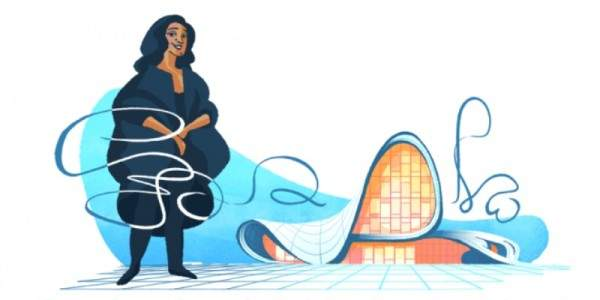 محرك البحث غوغل يحتفل بذكرى وفاة المعمارية العراقية زها حديد