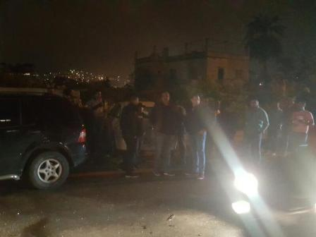 بالصور: حادث سير عند بوليفار معروف سعد في صيدا
