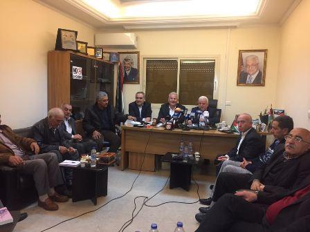 اجتماع لفصائل منظمة التحرير الفلسطينية  في السفارة الفلسطينية في بيروت
