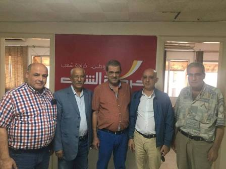 وفد من التنظيم الشعبي الناصري يزور مقر حركة الشعب ويلتقي واكيم