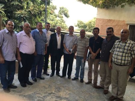 اللجنة الشعبية لمنطقة صيدا تهنىء مخاتير المية ومية بحضور رئيس بلدية المية ومية