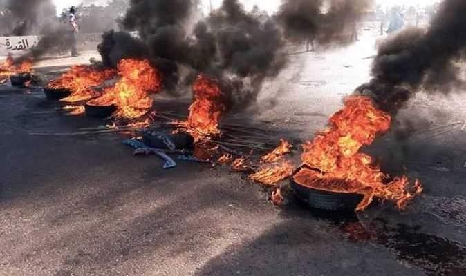 محتجون قطعوا مسرب الاوتوستراد الشرقي في صيدا والجيش اعاد فتحه