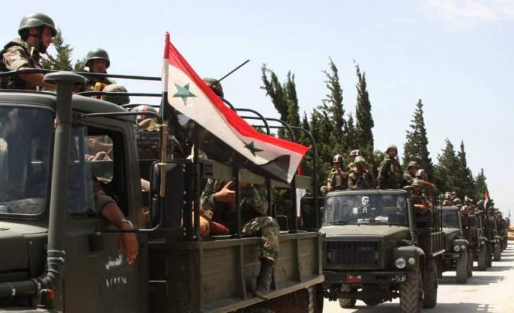 الجيش السوري يدخل قرية
