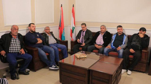 أسامة سعد استقبل عبدو الرفاعي على رأس وفد من نادي الحرية الرياضي