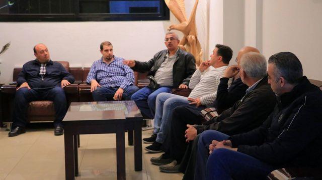 أسامة سعد يعقد اجتماعاً مع وفد من تجار صيدا لاستكمال البحث  في الاوضاع الاقتصادية والتجارية والمعيشية  للمدينة