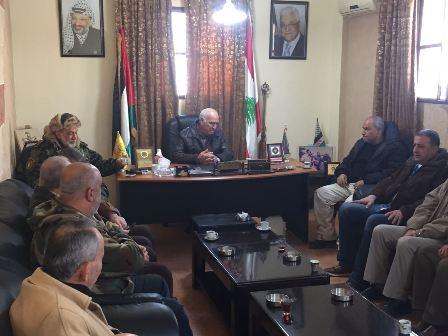 اجتماع لقيادة الامن الوطني الفلسطيني في عين الحلوة برئاسة اللواء ابو عرب