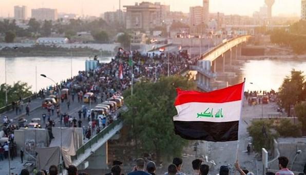 تظاهرات جنوب بغداد استنكاراً للعقوبات الأميركية على الشيخ الخزعلي